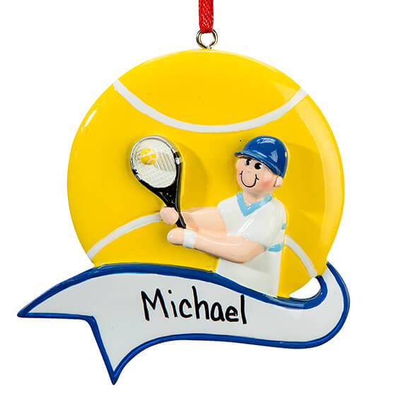 Personalized Tennis Ornament - View 3
