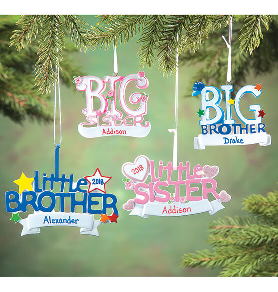 Personalized Big Sister Ornament - View 2