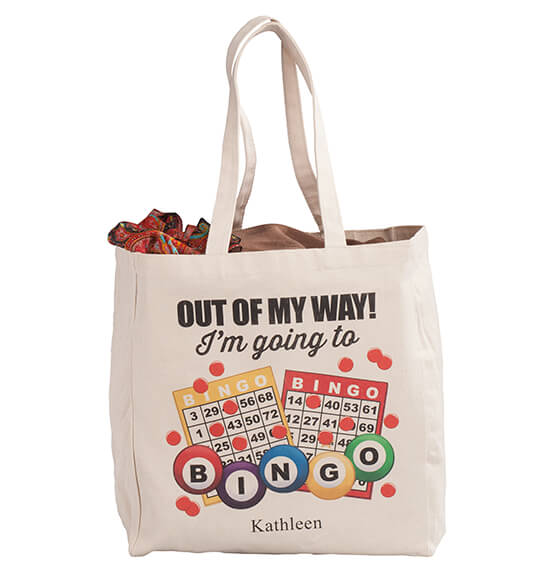Personalized I'm Going to Bingo Tote - View 4