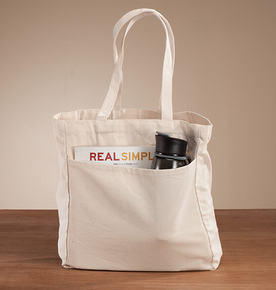 Personalized Wine, Words, Wisdom Book Club Tote - View 3