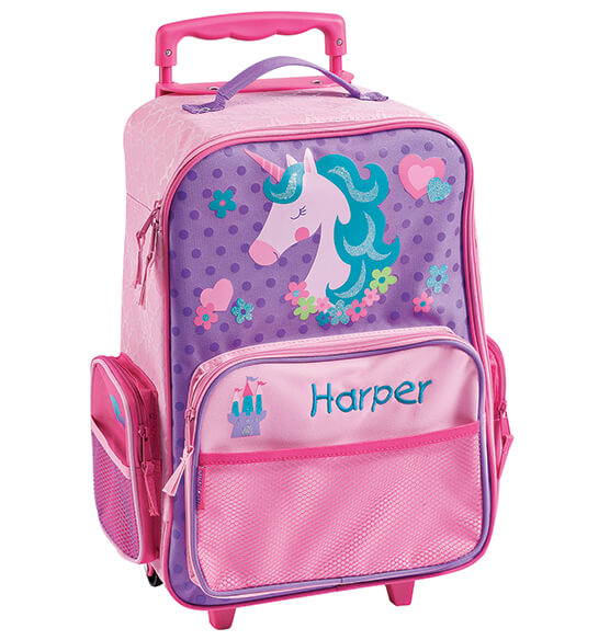 Personalized Stephen Joseph® Unicorn Classic Rolling Luggage - View 2