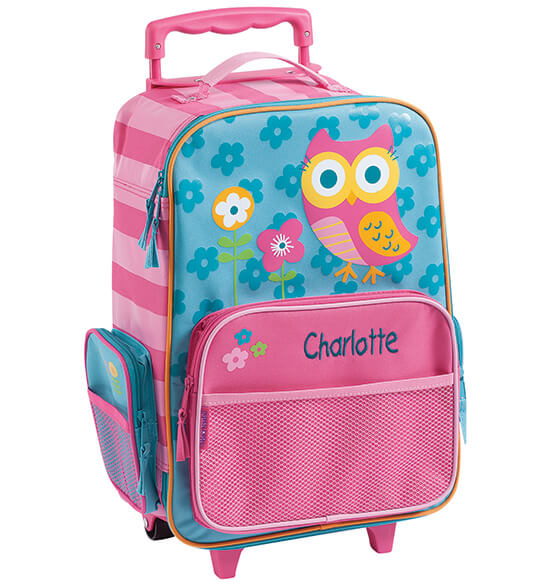 Personalized Stephen Joseph® Owl Classic Rolling Luggage - View 2