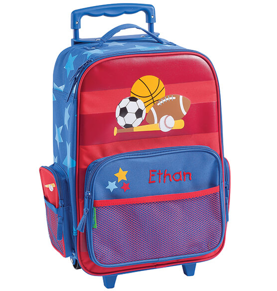 Personalized Stephen Joseph® Sports Classic Rolling Luggage - View 2