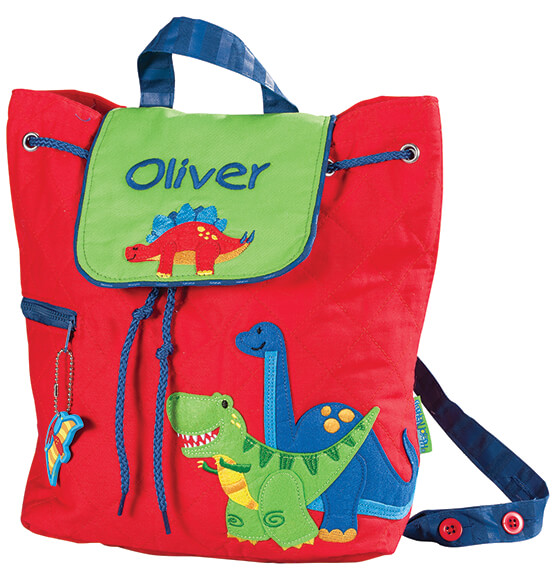 Personalized Stephen Joseph® Dinosaur Quilted Backpack - View 2
