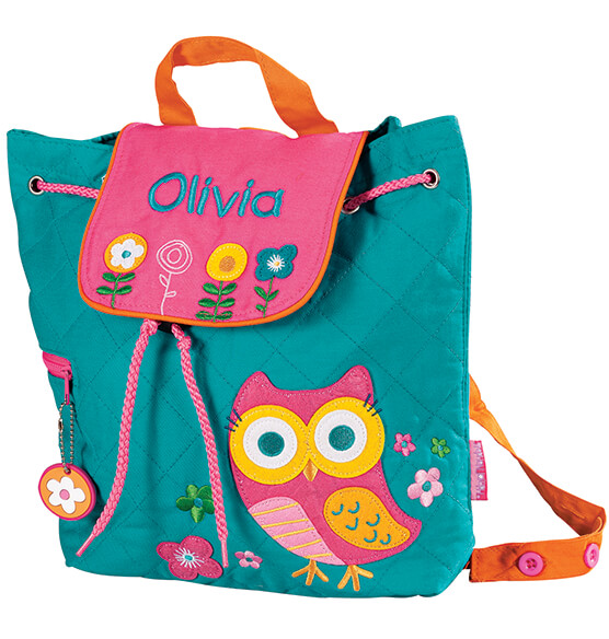 Personalized Stephen Joseph® Owl Quilted Backpack - View 2