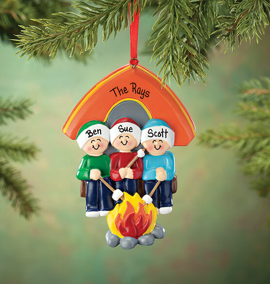 Personalized Camping Family Ornament - View 3