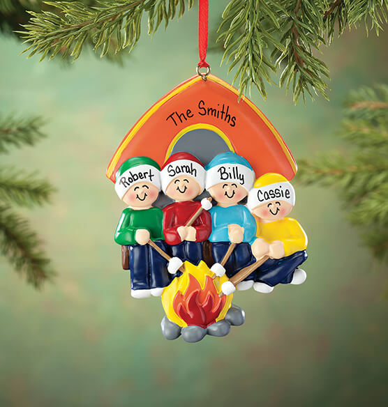 Personalized Camping Family Ornament - View 4