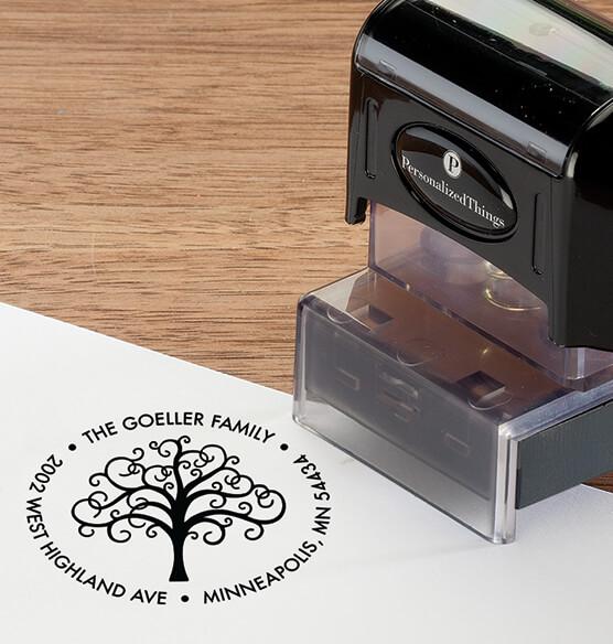 Personalized Family Tree Stamper - View 2