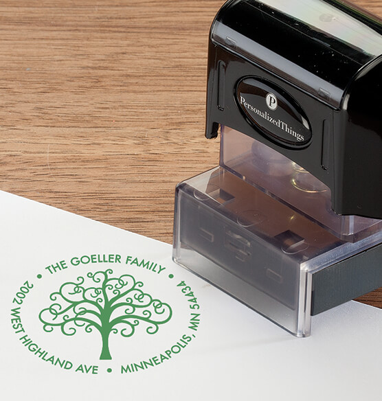 Personalized Family Tree Stamper - View 3