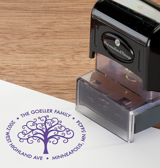 Personalized Family Tree Stamper - View 4