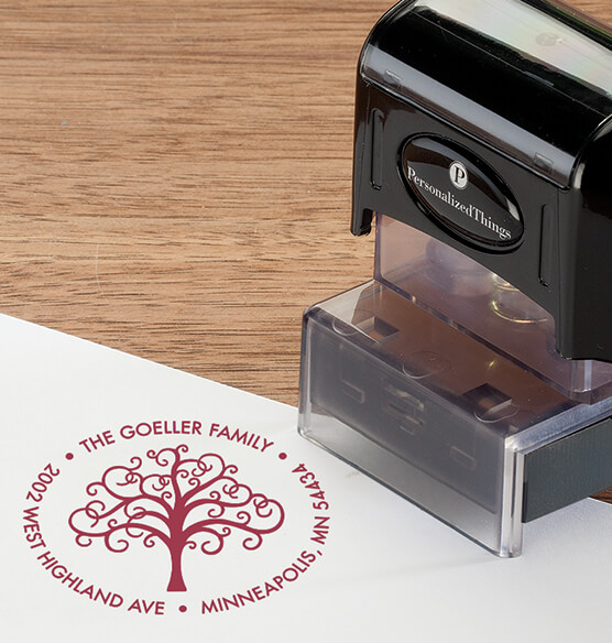 Personalized Family Tree Stamper - View 5