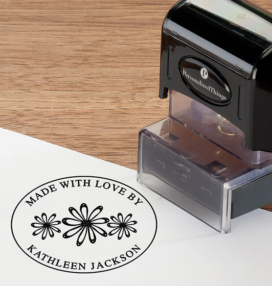 Personalized Made with Love Stamper - View 2
