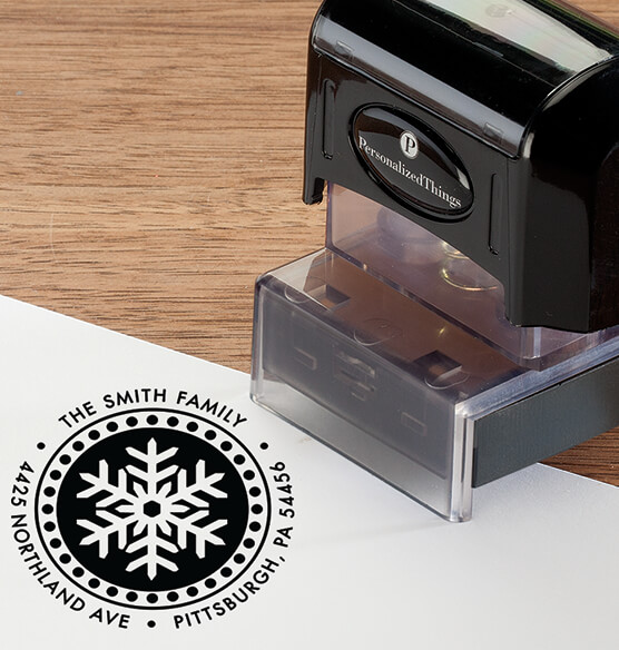 Personalized Snowflake Stamper - View 2