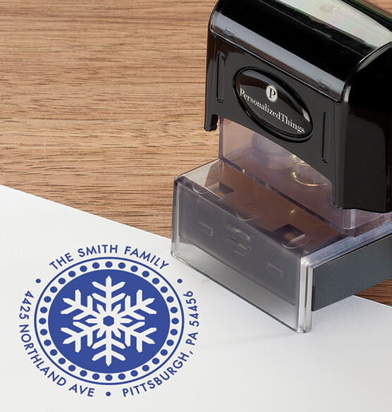 Personalized Snowflake Stamper - View 3