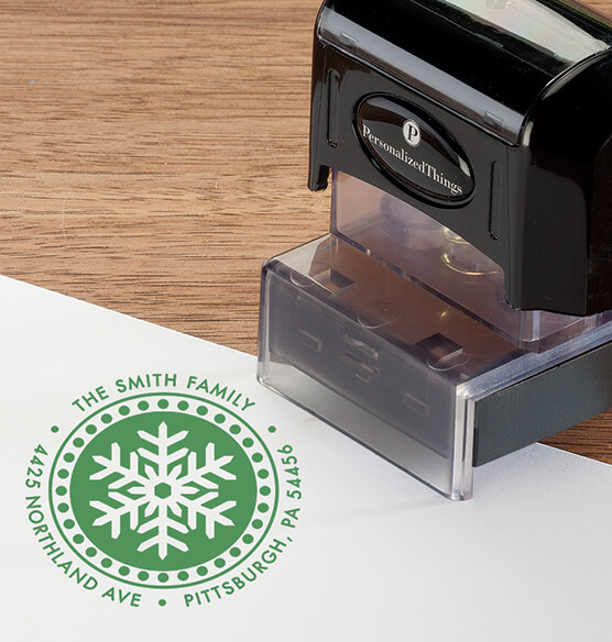 Personalized Snowflake Stamper - View 4