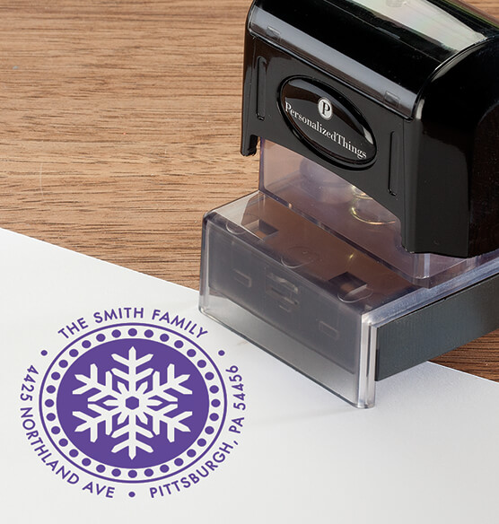 Personalized Snowflake Stamper - View 5