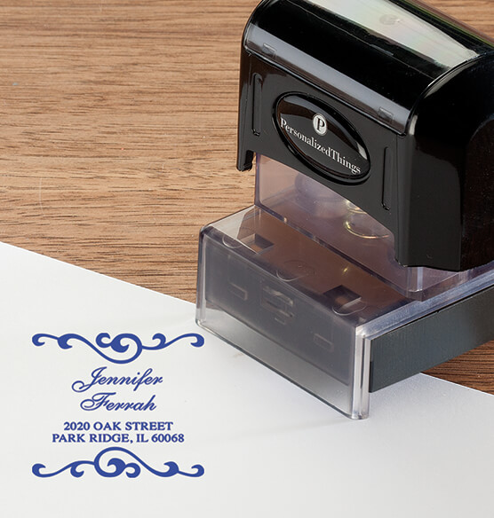 Personalized Swirls Stamper - View 2