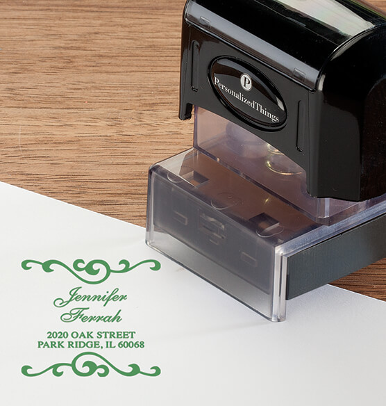 Personalized Swirls Stamper - View 3