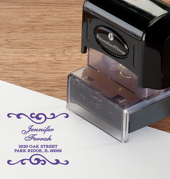 Personalized Swirls Stamper - View 4