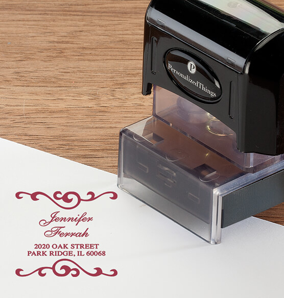 Personalized Swirls Stamper - View 5