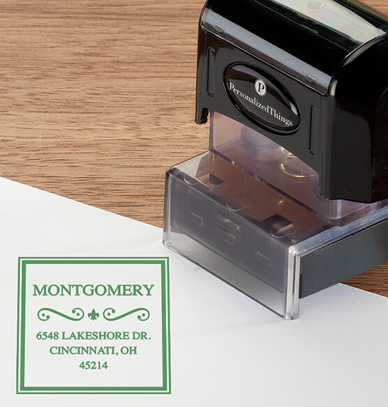 Personalized Border Swirl Stamper - View 4