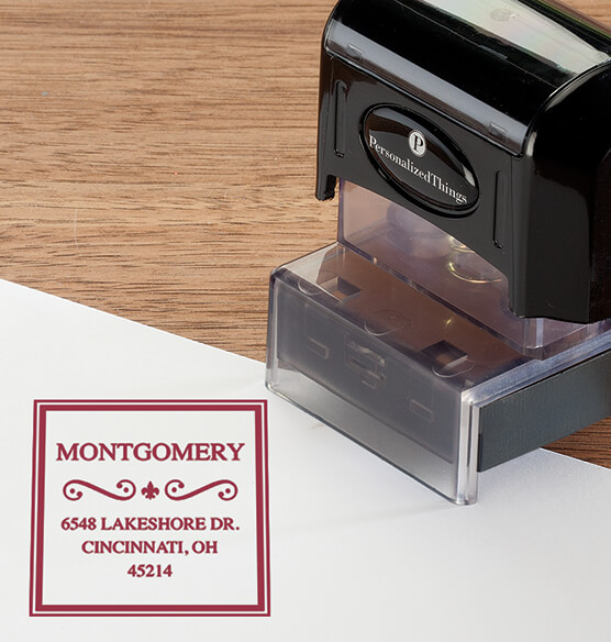 Personalized Border Swirl Stamper - View 5