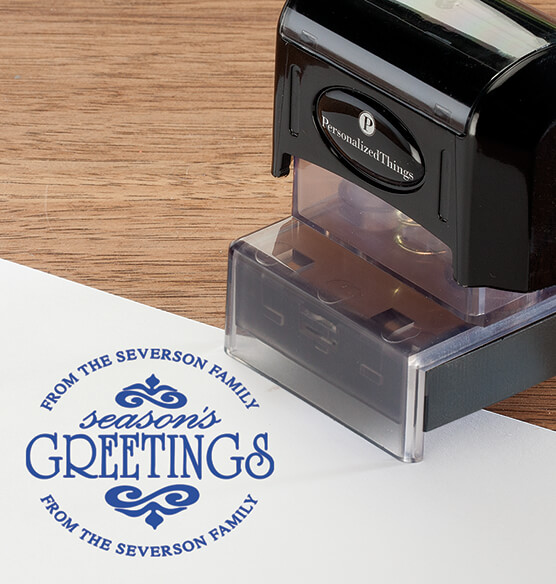 Personalized Season's Greetings Stamper - View 2