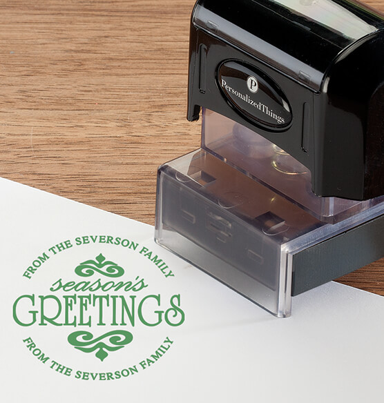 Personalized Season's Greetings Stamper - View 3