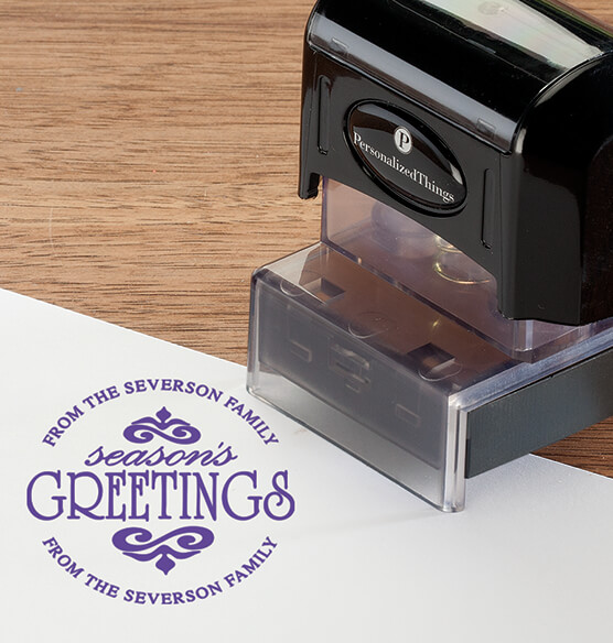 Personalized Season's Greetings Stamper - View 4