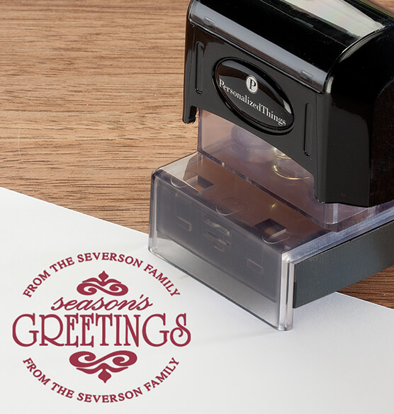 Personalized Season's Greetings Stamper - View 5