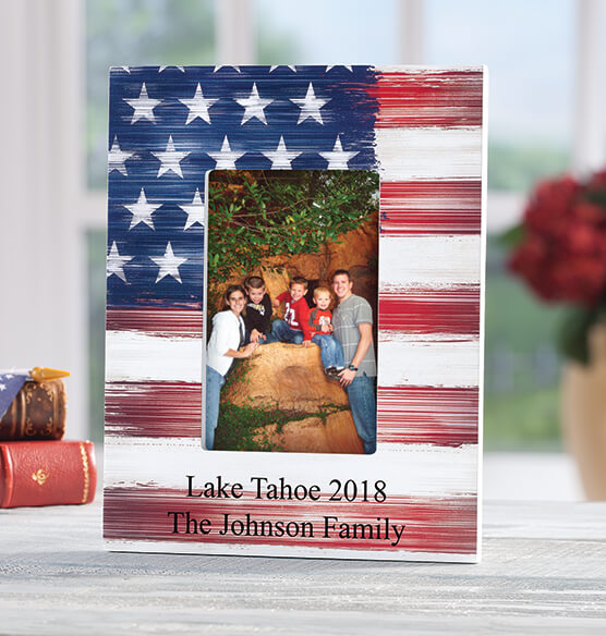 Personalized Stars and Stripes Frame - View 2