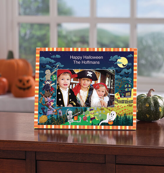 Personalized Haunted Party Halloween Photo Frame - View 2