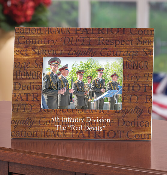Personalized Call of Duty Patriotic Wood Photo Frame - View 2