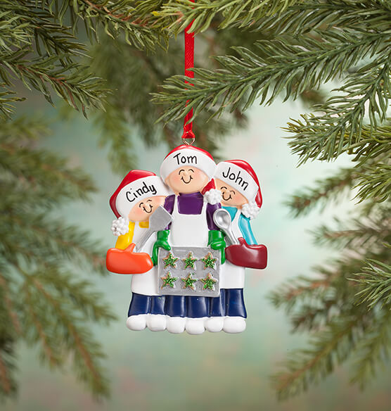 Personalized Family Cookie Baking Ornament - View 2