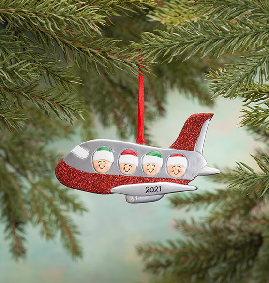 Personalized Family Airplane Ornament - View 4