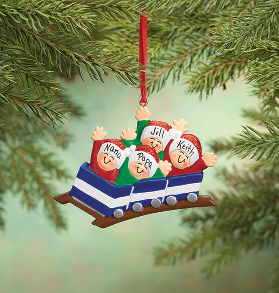 Personalized Family Roller Coaster Ornament - View 3