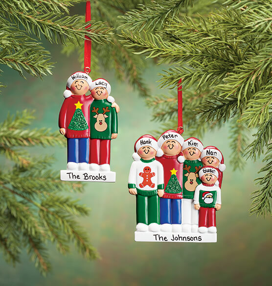 Personalized Family Sweater Ornament - View 5