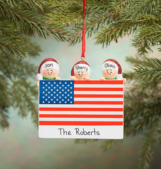 Personalized Patriotic Family Ornament - View 2