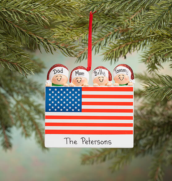 Personalized Patriotic Family Ornament - View 3