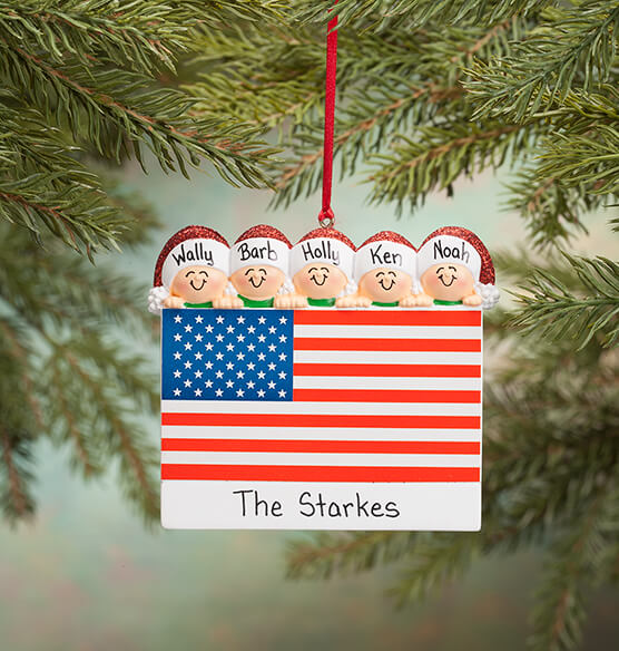 Personalized Patriotic Family Ornament - View 4