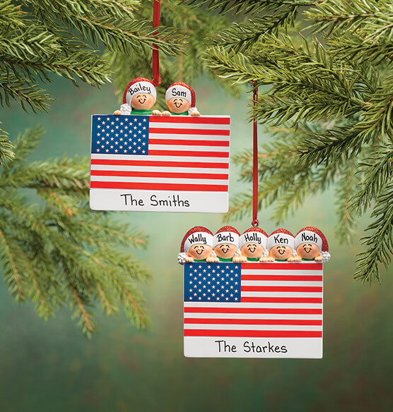 Personalized Patriotic Family Ornament - View 5