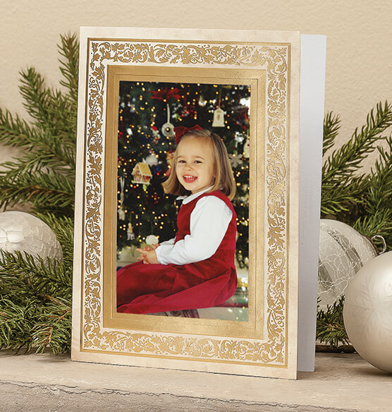 Regal Borders Ivory Photo Christmas Card, Set of 18 - View 2