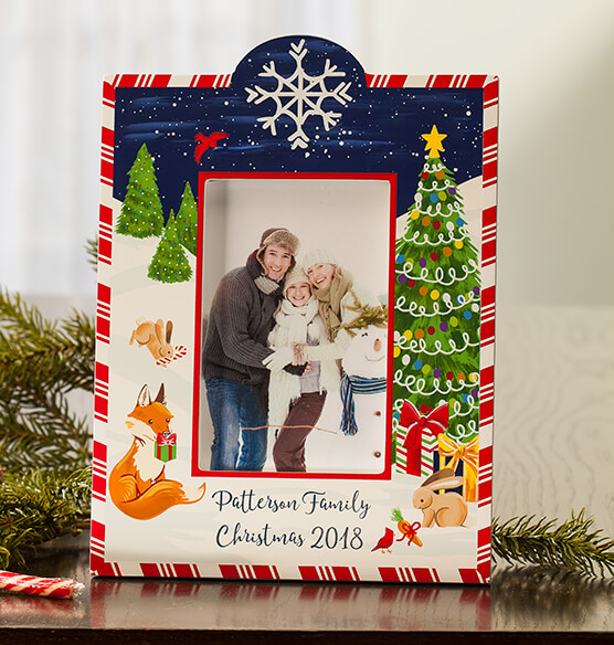 Personalized Winter Frolic Christmas Frame - View 2