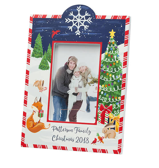 Personalized Winter Frolic Christmas Frame - View 4
