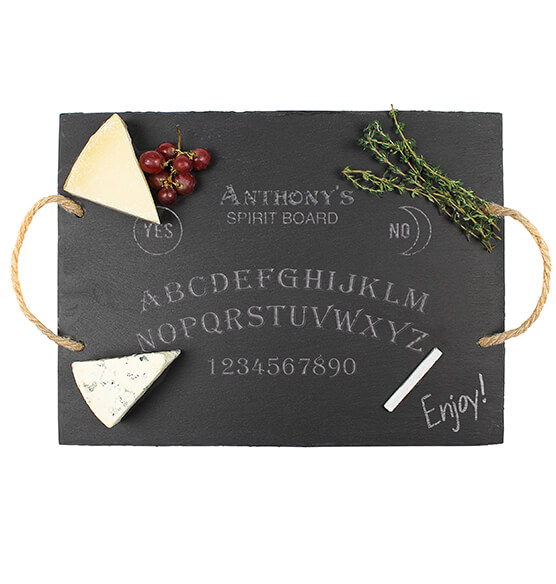 Personalized Spirit Board Slate Serving Tray - View 2