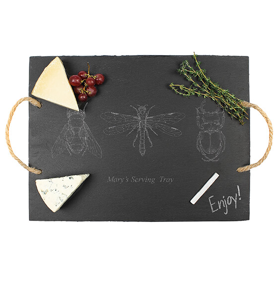 Personalized Halloween Insect Slate Serving Tray - View 2