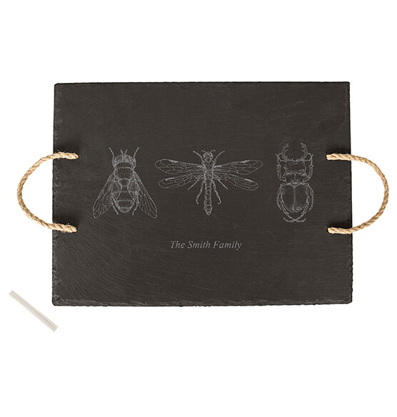 Personalized Halloween Insect Slate Serving Tray - View 4