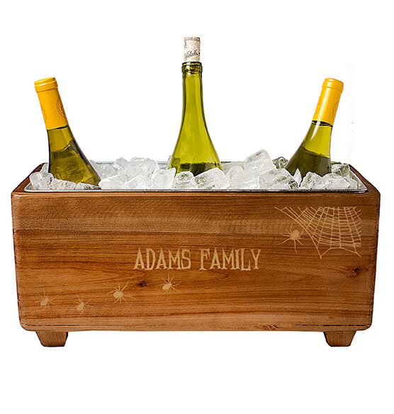 Personalized Halloween Wooden Wine Trough - View 2