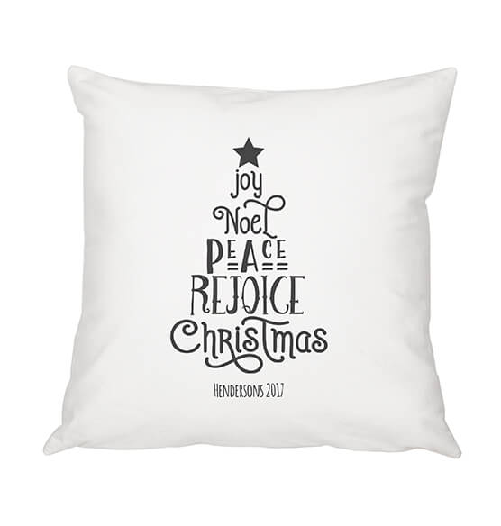 "Personalized Christmas Tree Throw Pillow 16"" - View 5"