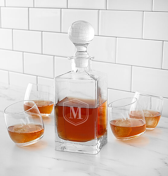 Personalized Tipsy Whiskey Decanter Set - View 2